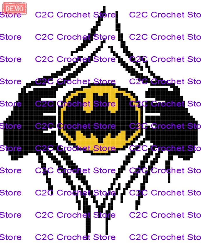c2c batman reveal graph only graphghan pattern