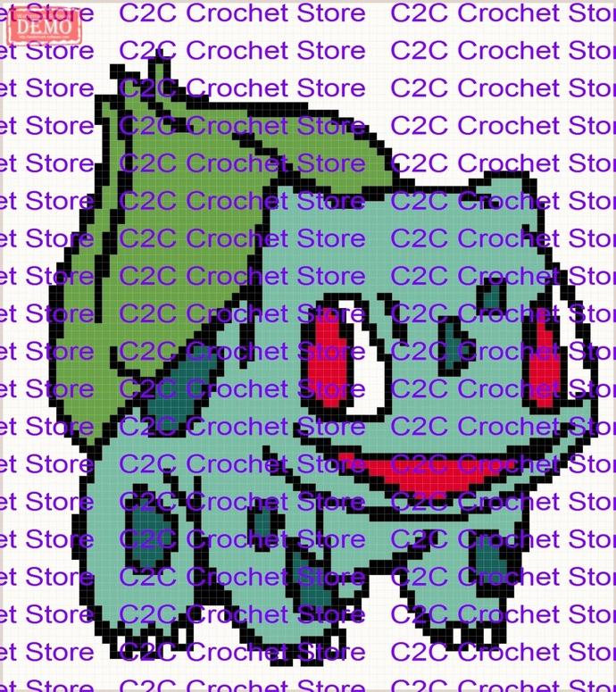 C2C Bulbasaur graph only graphghan pattern