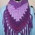 Purple Triangle Cowl with Fringe