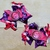 Personalized OTT PIgtail Bows, Hot PInk and Purple, Piggie Bows, Pigtail Bows,