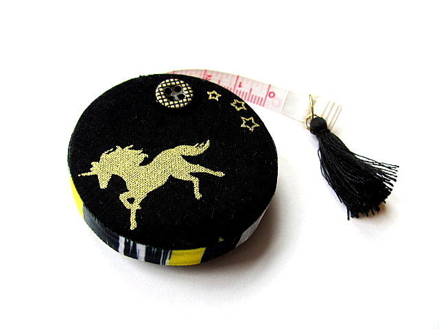 Tape Measure Golden Unicorns Retractable Measuring Tape