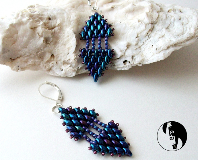 2 Slices of Pie Earrings Pattern by DatzKatz Designs