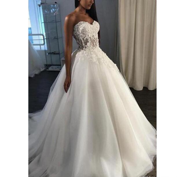 Plus Size Strapless Appliques Wedding by Miss Zhu Bridal on Zibbet