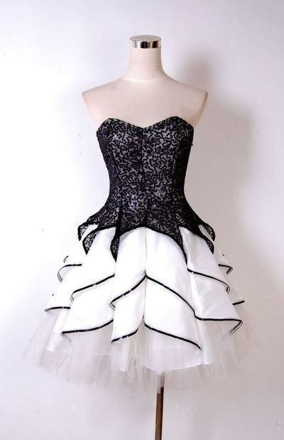 Charming Black Lace Short Homecoming Dress, Tulle Graduation Dress for Teens
