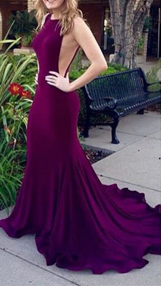 2b05881751c6 Purple Long Prom Dress,sexy Mermaid Prom by Hiprom on Zibbet