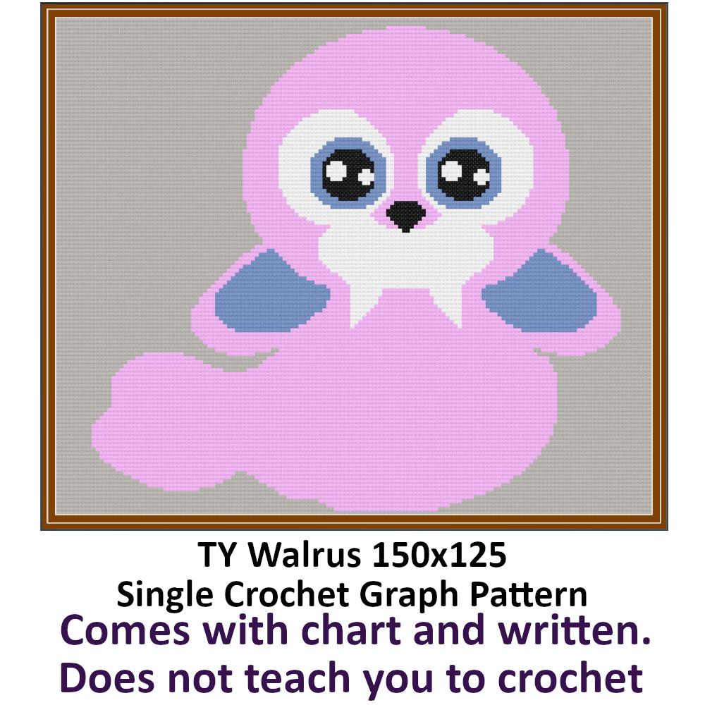 Walrus Crochet Graph Pattern 150x125 By Infinity On Zibbet