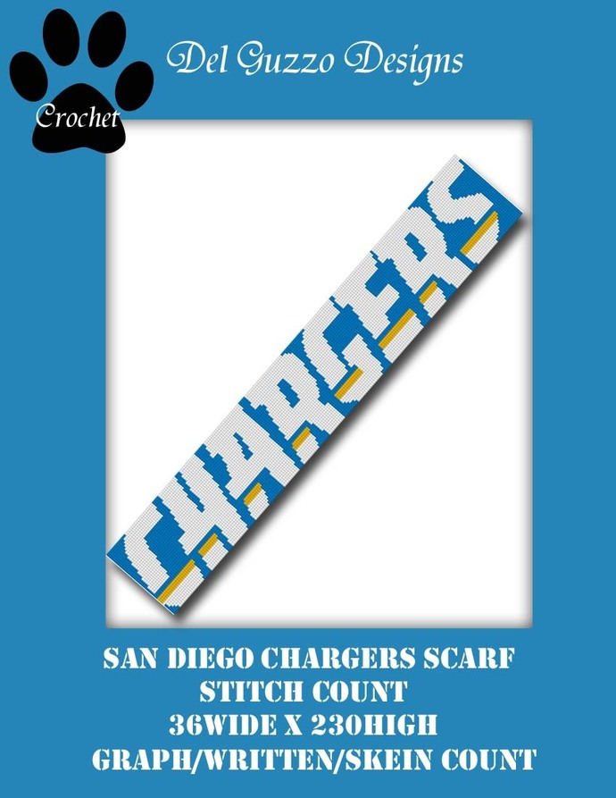 San Diego Chargers 36x230