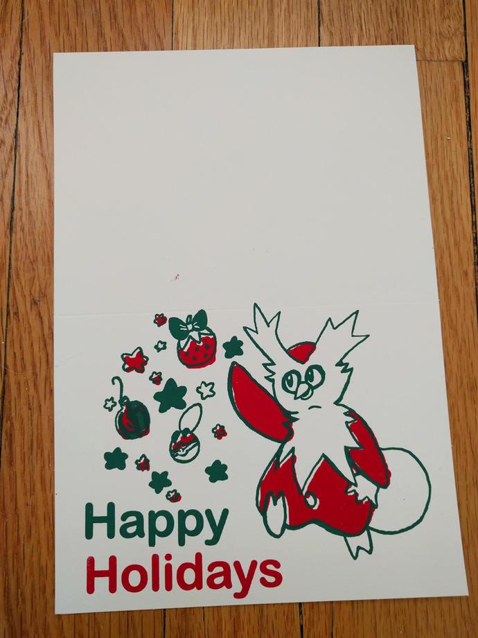 Delibird Pokemon Christmas Card