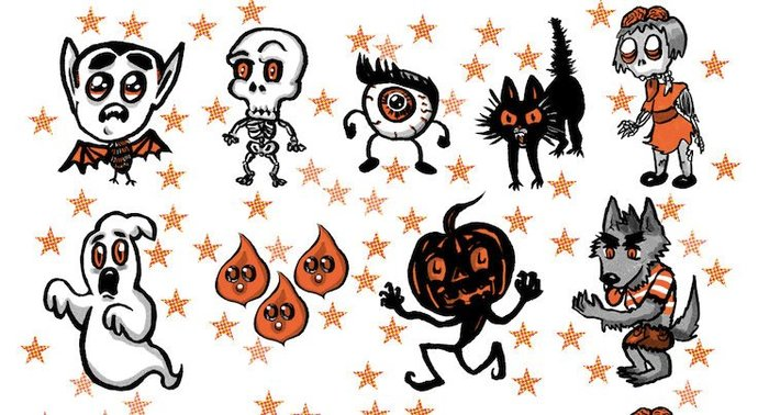 Spoopy Sticker Set