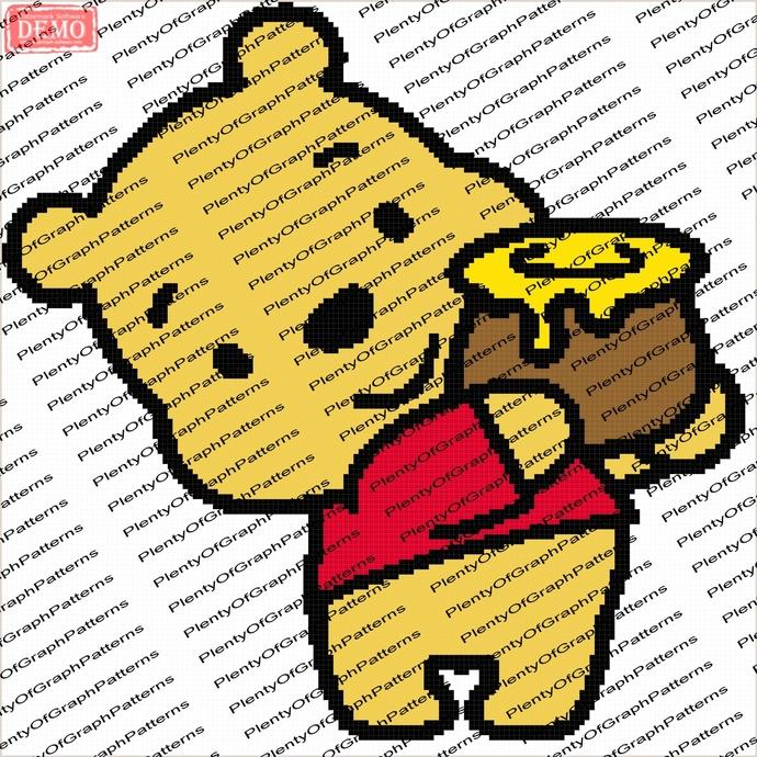 da6b988717bf Baby Pooh Bear graph and written by Plentyofgraphpattern on Zibbet