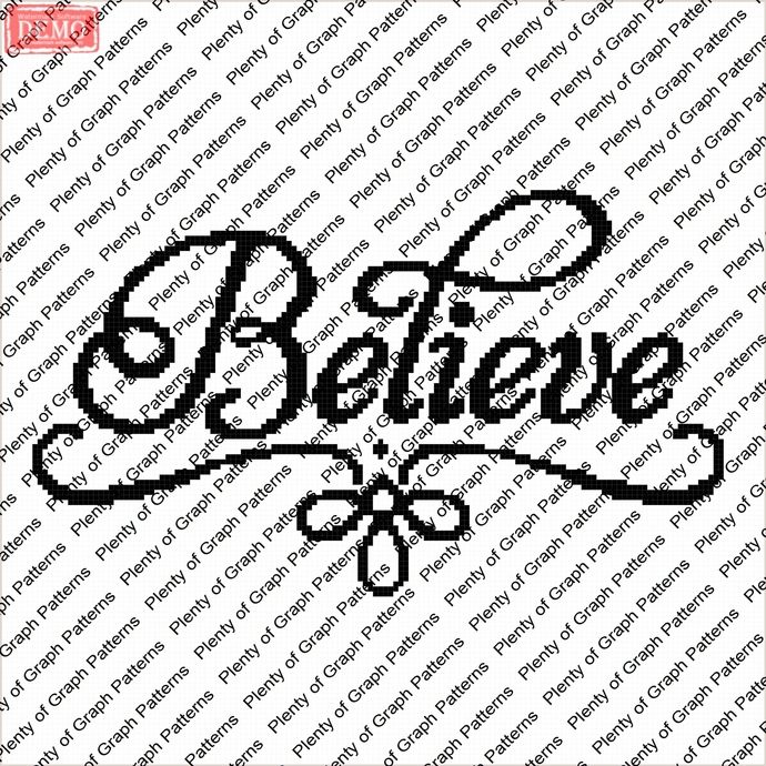 Believe graph and written graphghan pattern