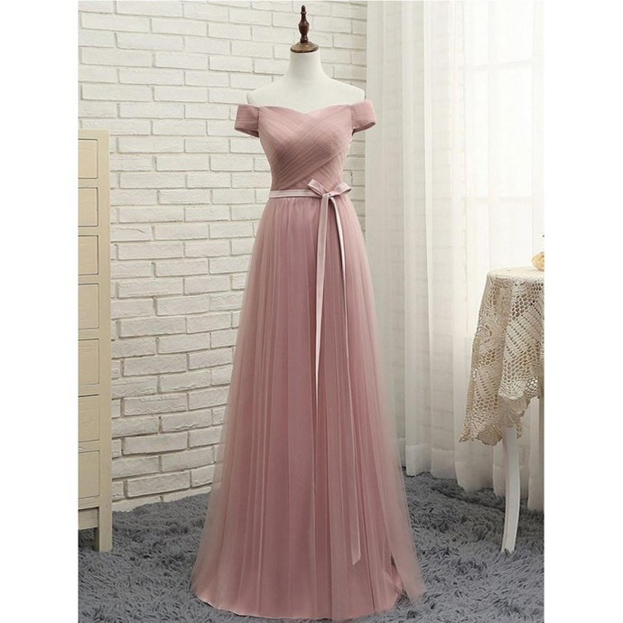 A-LineProm Dresses Tulle Fashion Dress Cheap 2019 Evening Dress Long Party Gowns