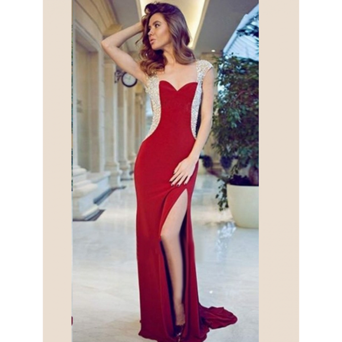 14ebf50b775ff Sexy Mermaid Prom Dresses Chiffon Graduation Dress Long Evening Dress Formal