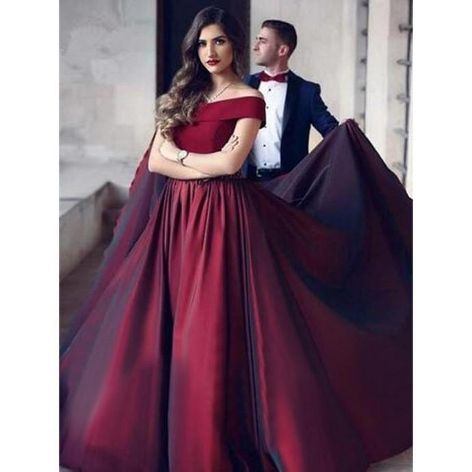 A-Line Prom Dresses Taffeta Graduation Dress Long Evening Dress Formal Gowns