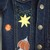 Baby's Denim Jacket, Hand Painted Upcycled Denim, Recycled Denim,  Space