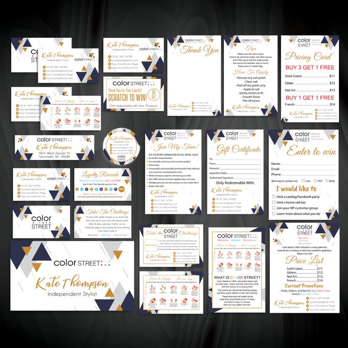 Color Street Marketing Kit, Printable Digital Cards, Personalized Color Street