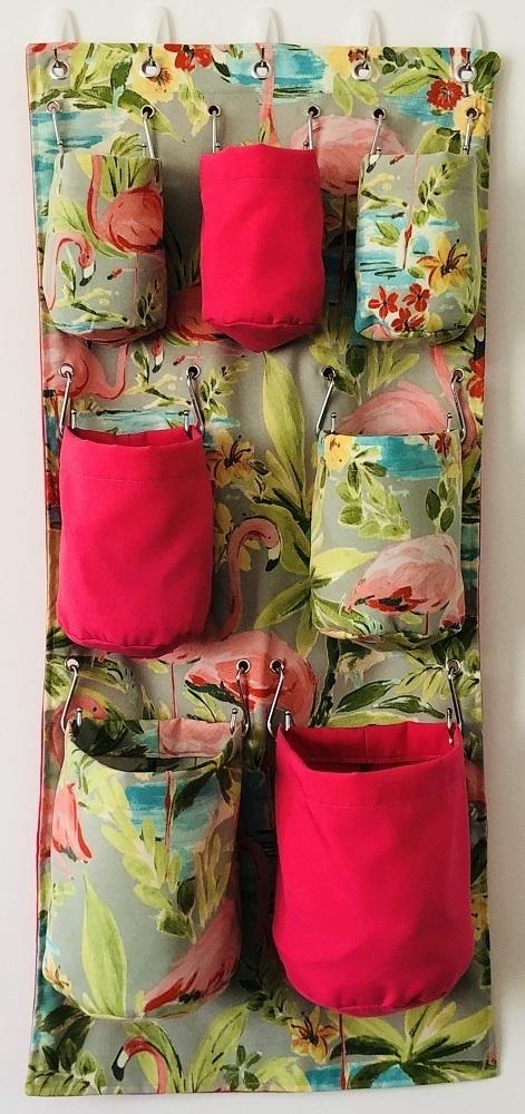 Pink Flamingo Shower & Household Organiser