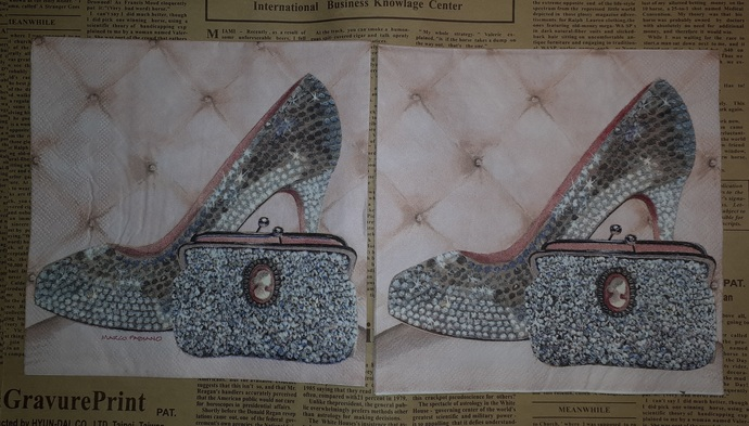 N147 Paper Napkins (Pack of 2) High Heels and Purse, Rhinestone Looks
