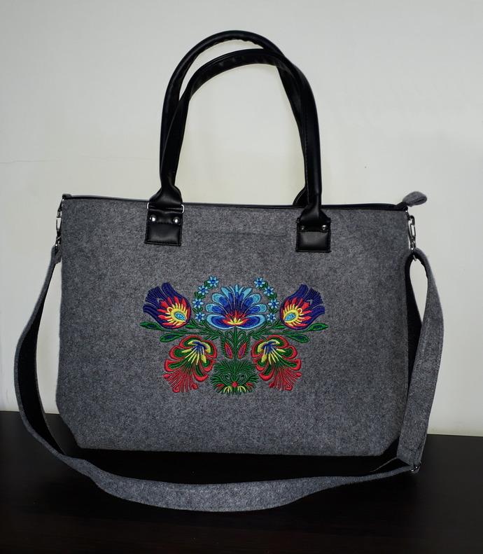 "Copy of Elegant felt bag for women handbag/shoulderbag 20"" laptop / macbook /"