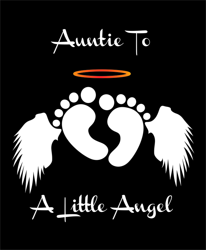 Auntie to a Little Angel, Rainbow Baby, Infant loss awareness, SVG