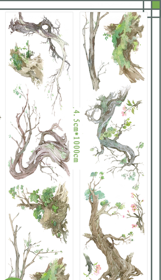 1 Roll Limited Edition Washi Tape: Tree Growing