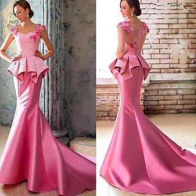 50e14e4097c65 Hot Pink Formal Dresses 2019 Charming Evening Dress, Mermaid Evening Dress,  Sexy