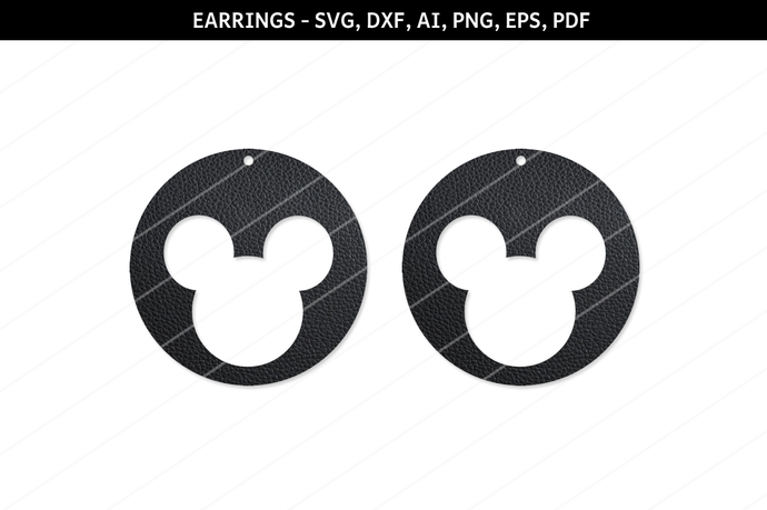 Mickey mouse Earrings, Mickey mouse svg files,Mickey mouse cut