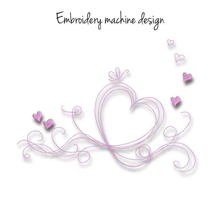 Valentine's day embroidery machine designs pes wedding pattern heart marrried