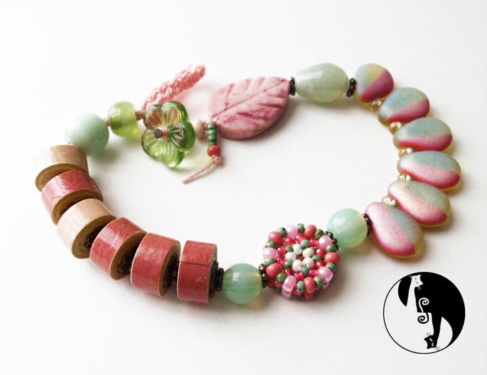 Mandala Rondelle Beaded Bead Pattern by DatzKatz Designs