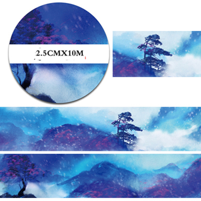1 Roll of Limited Edition Washi Tape: Misty Landscape