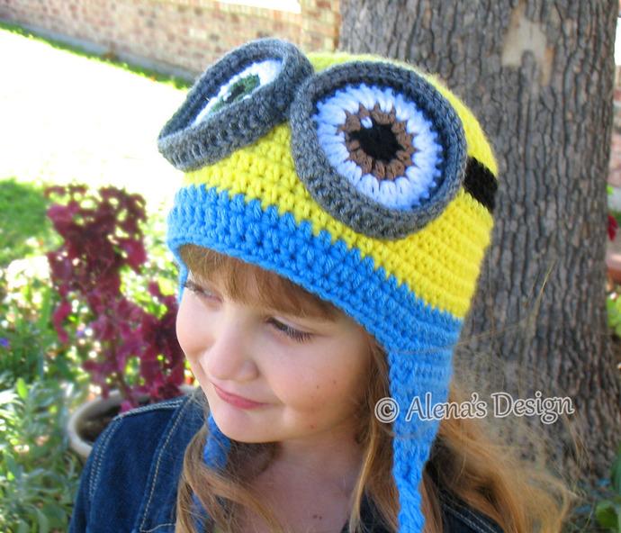 Crochet Pattern 200 Crochet Hat Pattern Minion Hat Ear Flap Hat Crochet  Patterns fd32e0e3f8f