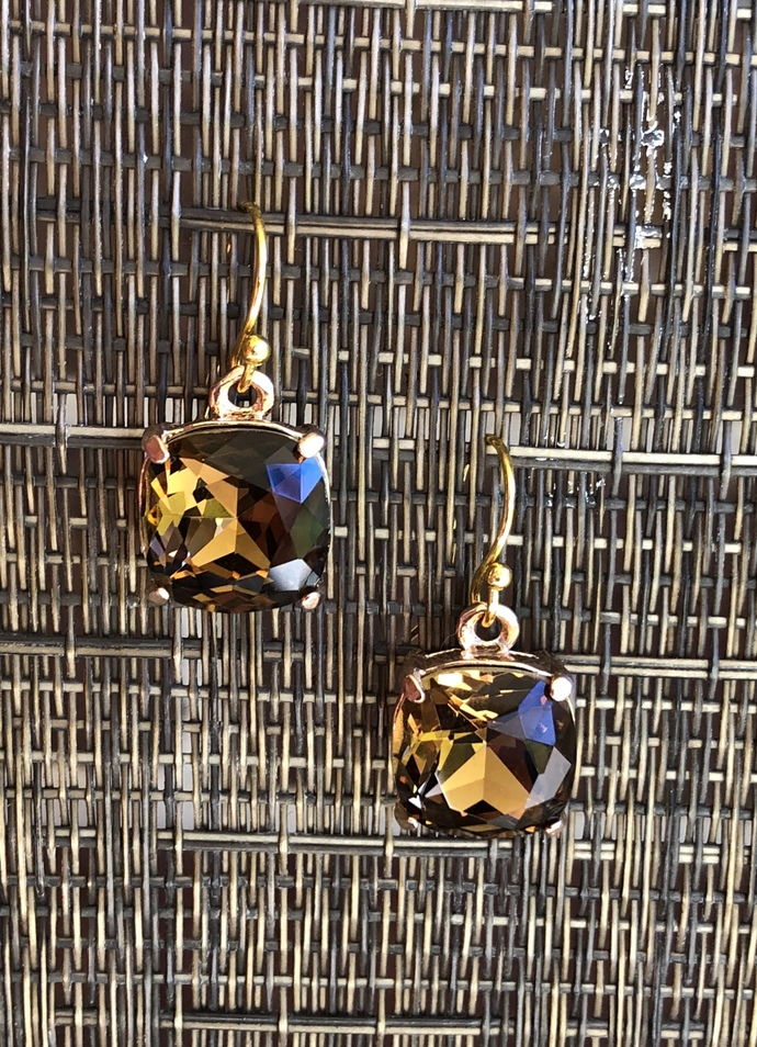 Chocolate Rhinestone Earrings