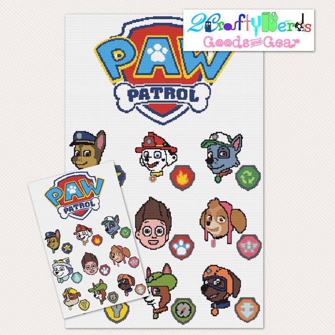 Paw Patrol Adventure CAL Bundle Single Crochet SC Pattern Graph with Written