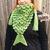 READY TO SHIP Mermaid Scarf - Triangle Scarf, Women's