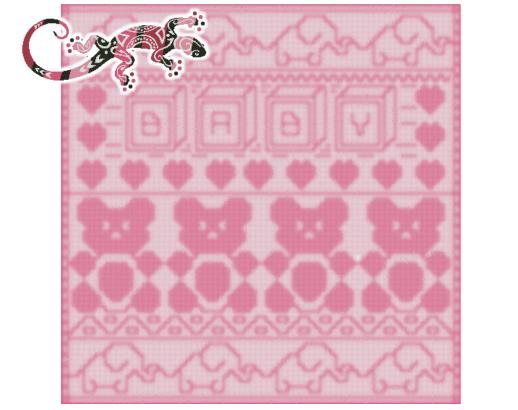 Animal Medley Afghan Baby Throw Locking Filet Crochet Pattern