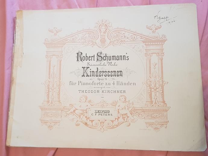 Genuine 1906 music book