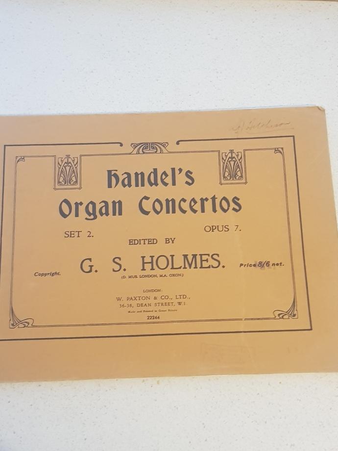 Genuine 1943 music book