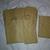 HM106 (3 Pieces) Machine Stitched Kraft Brown Paper Bags Mini Skinny Black