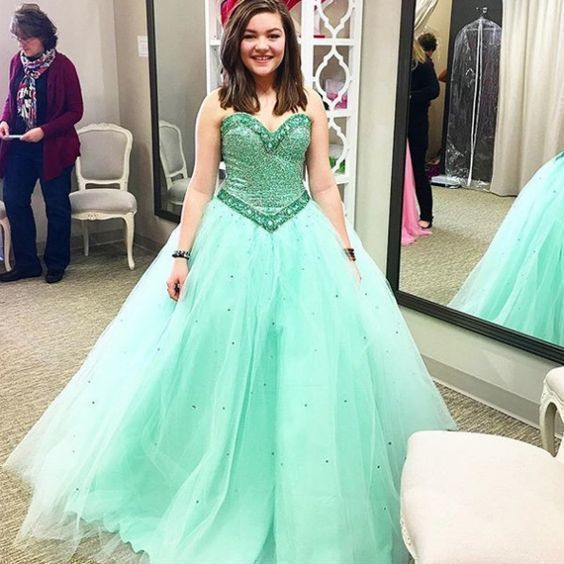 7bcb550e4a5 Charming Mint Green Tulle Quinceanera by fancygirldress on Zibbet