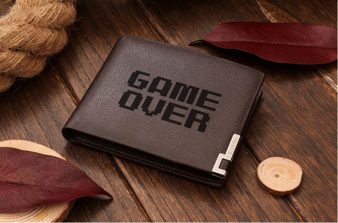 GAME OVER Leather Wallet