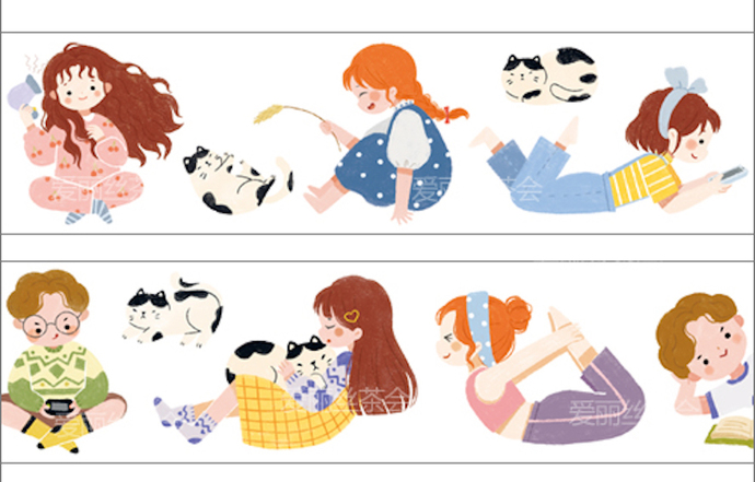 1 Roll of Limited Edition Washi Tape- Daily Life