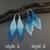 Boho beaded earrings Blue bohemian earrings Beaded tassel earrings Light blue