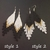 Boho beaded earrings black and white Tassel earrings Beauty gift white and gold