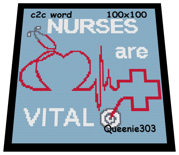 Nurses are Vital 100x100 c2c  (CORNER to CORNER)