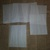 HM125 (2 Pieces) Machine Stitched Glassine Looking Pockets White Thread