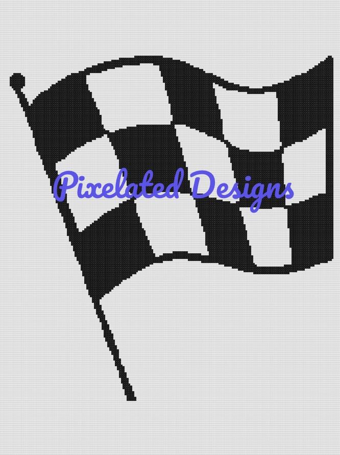 Checkered Flag Pattern - SC - 180x240 - Graph w/Written - Full Version
