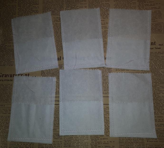 HM126 (2 Pieces) Machine Stitched Baking Paper Pockets