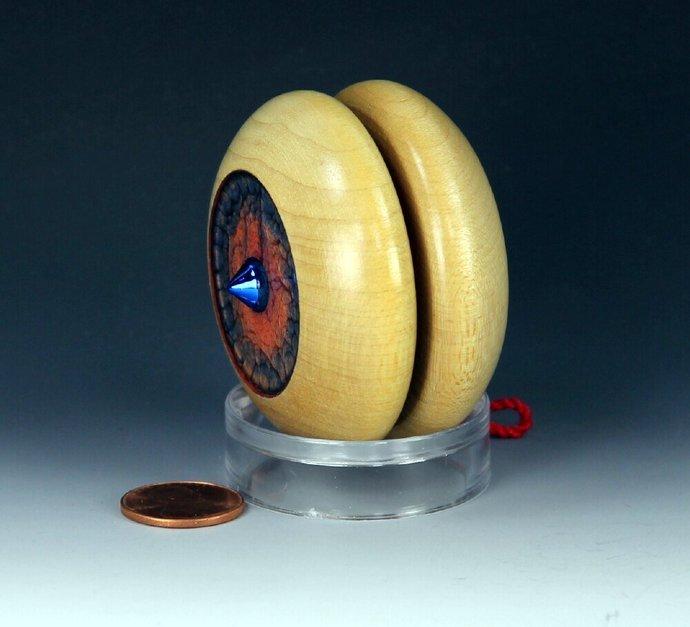 Imperial Fixed Axle Maple Wood Yo-Yo, handmade by YoYoSpin