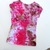 Girl's Ice Dyed Summer Top, Ice Dyed Cap Sleeve Top,  Shades of Pink for Your