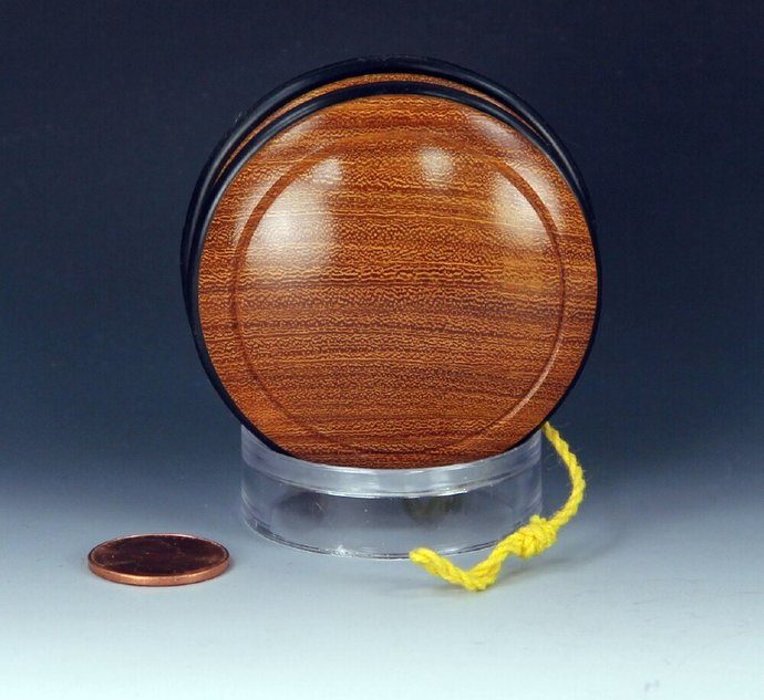 Handmade Toy YoYo, Fixed Axle Imperial Shape, Brazilwood